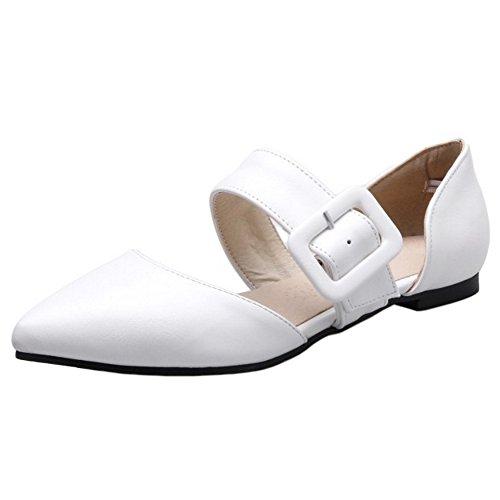 Femmes TAOFFEN White Pointue TAOFFEN White Sandales Sandales Pointue Femmes TAOFFEN 5W6Zpxg