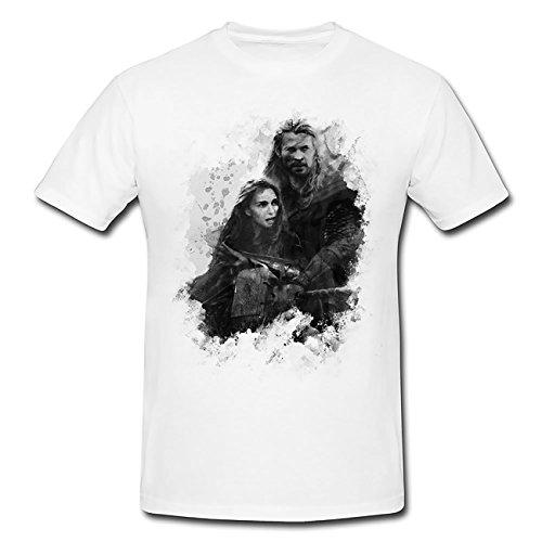 The Dark World Chris Thor T-Shirt Herren, weiß mit Aufdruck