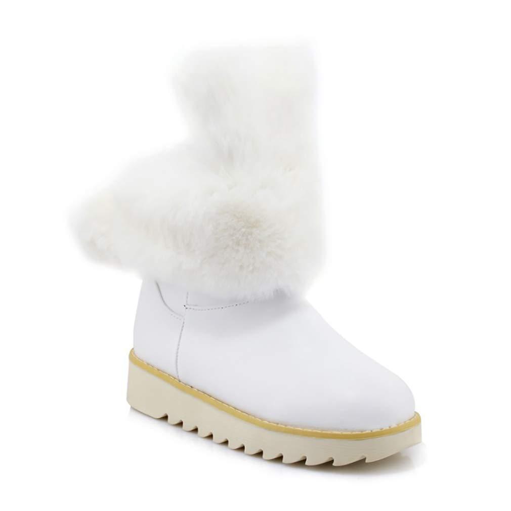 Hy Frauen Booties Wildleder Winter dicken Boden Boden Boden Schneeschuhe/Niedrig Top Casual Winter Stiefel/Damen Große Größe Plus Thick Outdoor Ski Schuhe (Farbe : E, Größe : 36) - 114ee9