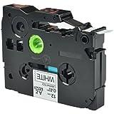 "NineLeaf 1PK Label Tape Black on White Compatible for Brother TZe-231 TZ 231 TZe231 TZe 231 P-Touch 0.47"" 26.2ft PT200,PT1000,PT-D200,PT1120,PT1130,PT-E200,PT18R,PT300,PT310"
