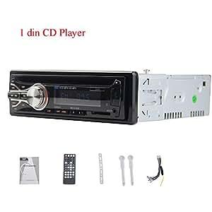 1 DVD DIN coche reproductor de In-Dash din individuales autoradio del coche estšŠreo EQ MultimediaUniveresal 1din la radio de coche del jugador Ajuste de FM / MP3 / Audio / cargador / USB / SD / AUX / Electrš®nica para los automš®viles