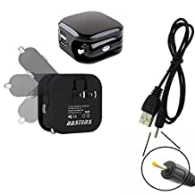 3in1 dual mini wall outlet & car charger double USB power ports & sized pocket for travel 2.1 Amp 11W with USB charge cable designed for the Avatar Sirius S702-R1B-2