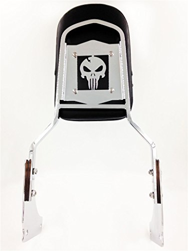 Motorbike skull Backrest Sissy Bar Pad For Honda Shadow Ace
