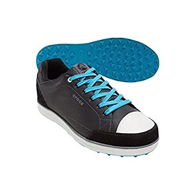 c0c66e94e Crocs Mens Karlson Spikeless Golf Shoes (Black Electric Blue
