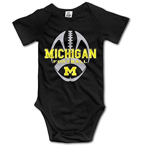 Price comparison product image ElishaJ University Of Michigan Babys Romper Bodysuit Outfits Black Size 6 M