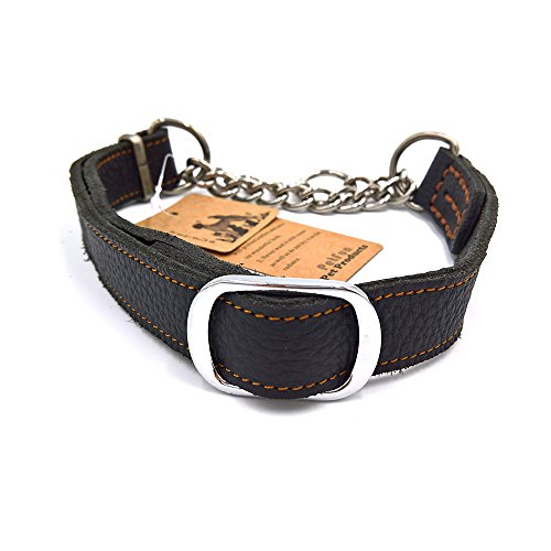 PetFun Small Classic Unique Design Soft Sturdy Leather Half Stainless (Martingale Leather Harness)
