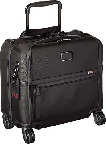 Tumi Men's Alpha Compact 4 Wheel Briefcase, Black, One Size