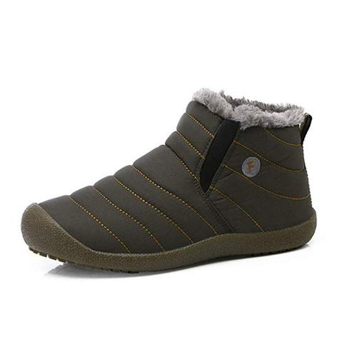 - aeepd Winter Snow Boots Slip on Ankle Bootie Men Women Water-Resistant Anti-Slip Fur Lined Shoes