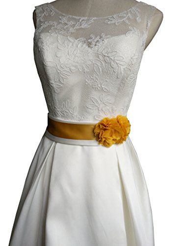 Simple Flowers Belts/sashes for Wedding/party/bridal Dress A06 in 12 Colors (Gold)