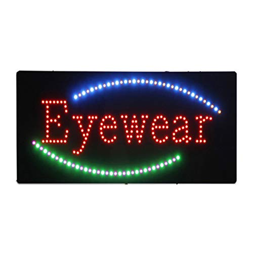 LED Eyewear Shop Open Light Sign Super Bright Electric Advertising Display Board for Eye Care Center Sunglasses Store Optometrist Optician Business Shop Window Home Bedroom 24 x 12 ()