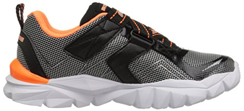 Skechers Kids Electronz Sneaker (Little Kid/Big Kid), Black/Orange, 1.5 M US Little Kid