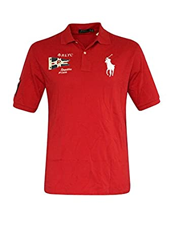Polo ralph lauren big and tall custom fit yacht club mesh for Big and tall custom polo shirts