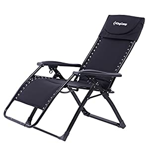 KingC& Zero Gravity Chair Oversized XL Padded Free-Adjustment Heavy Duty Lounger Patio Chair with Square Legs for Garden Outdoor Yard Beach 264 lbs Weight ...  sc 1 st  Amazon.com & Amazon.com: KingCamp Zero Gravity Chair Oversized XL Padded Free ... islam-shia.org