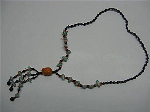 Natural mente–Corail, turquoise, collier, env. 65cm, pierre naturelle, collier, chaîne, corail, turquoise, 1003
