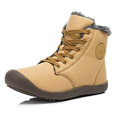 Amazon.com | Dannto Snow Boots High Top Waterproof Outdoor