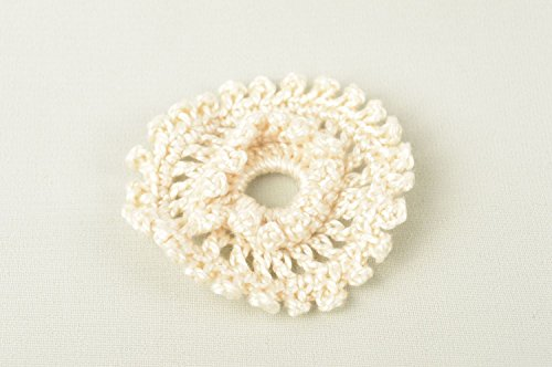 Crochet Flower Brooch - 9