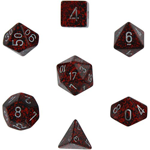 polyhedral 7 die speckled dice