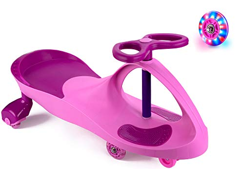 Bestlaixing Ride on Toys for Wiggle Car Boys Girls 3 Year Old and Up with LED Light Up Wheels (Pink)