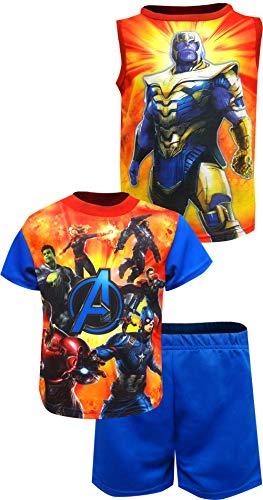 (Marvel Boys' Little Avengers 3-Piece Pajama Set, Power Blue, 6)