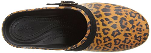 Sarahgraphicclg Crocs Leopard Braun Clogs Multicolor Frauen 8BBwY