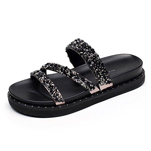 PENGFEI Zapatillas de Playa Watermains Zapatillas Verano Casual Moda Antideslizante Sandalias de Mujer (Tamaño : EU39/UK6/L:245mm)