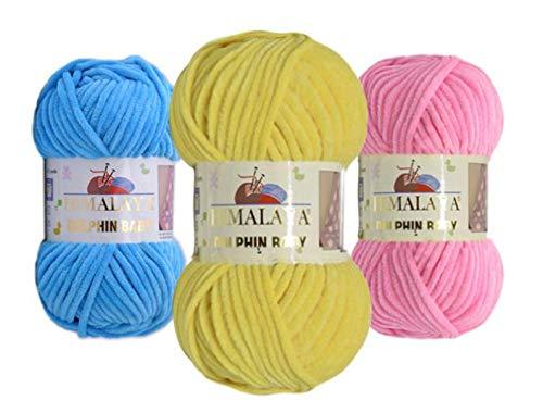 - 4 Balls Himalaya, Dolphin Baby, Baby Yarn, Knitting Baby, Velvet Yarn, Himalaya Yarn, Baby Yarn, Crochet Yarn, Blanket Yarn, Chenille, Velvet Yarn