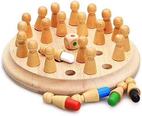 UK Kid Wooden Memory Match Stick Chess Game Educational Toys Brain Training Gift