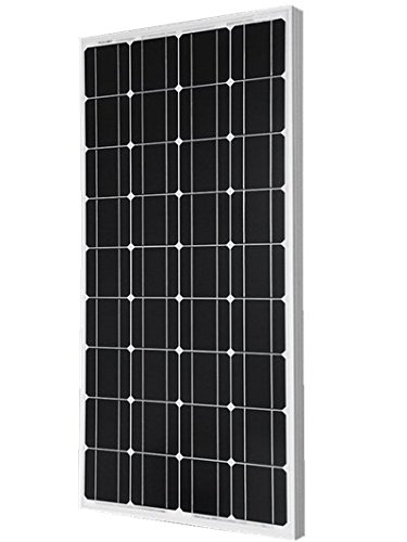 Giosolar 100W Solar Panel 100Watts 12v Monocrystalline Solar Panel 100W, 90mm of special cable with MC4 connectors attached, Off Grid 12 Volt 12V RV Boat-Giosolar by Giosolar