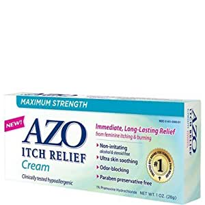 Azo itch relief maximum strength medicated for Exterior yeast infection