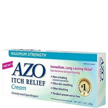 AZO Itch Relief Maximum Strength Medicated, Cream 1 oz (28 g)