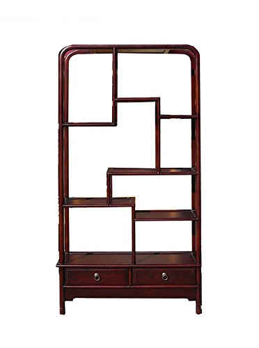 Simple Oriental Uneven Open Curio Display Cabinet Ass860