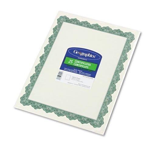 Geographics Pergament-Papier, Zertifikate, 8–1 2 x x x 11, Optima Grün Grenze, 25 Pack B00SPMF8KC | Bequeme Berührung  76a513