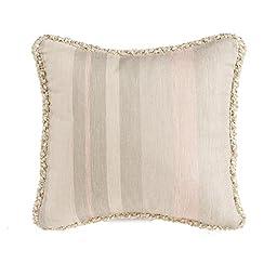 Glenna Jean Contessa Pillow, Pink/Cream, Stripe