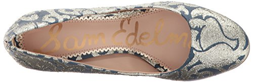 Sam Edelman Donne Pompa Stillson Blu Multi Jacquard / / Metallico