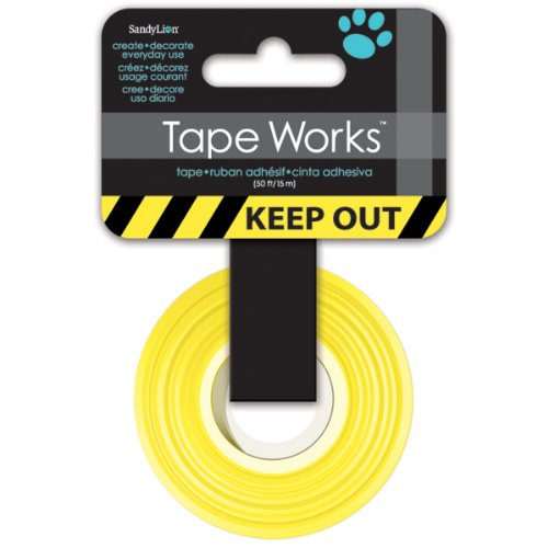 Tape Works Keep Out Tape, Yellow and Black Hardware ...