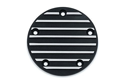 Kuryaykn Satin Black and Machined Finned Timing Cover for All Harley 1999-2017 Twin Cam Models