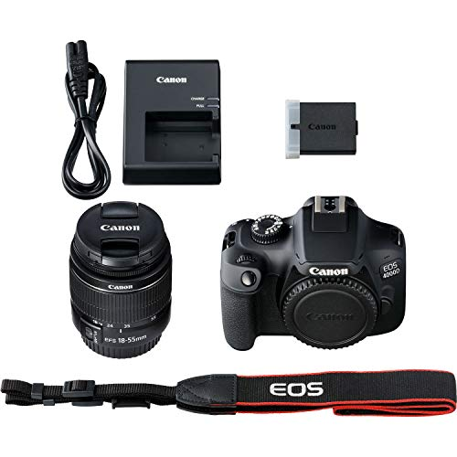 Canon EOS 4000D DSLR Camera with 18-55mm III Lens & Starter Accessory Bundle – Includes: SanDisk Ultra 32GB SDHC Memory Card + Camera Carrying Case + Ultraviolet Filter + Lens Cap Keeper + More by Canon (Image #5)