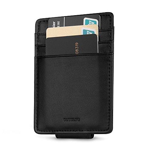 INJOYLIFE Magnet Money Clip Wallet With Credit Card Holder Genuine Leather RFID Blocking Hot Sale for Men