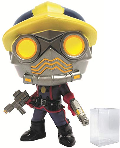 Funko Pop! Marvel: Guardians of The Galaxy - HCF 2018 Comic Star Lord Classic PX Exclusive Vinyl Figure (Bundled with Pop Box Protector Case) -