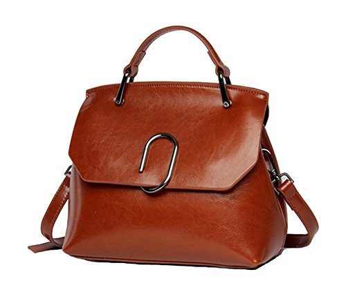 CLELO Women's Crossbody Bag,Vintage Leather Tote Purses Handbags Flap - Flap Handbag Bag