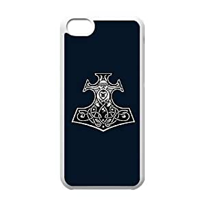 iPhone 5c Cell Phone Case White Thor's Hammer vlpc