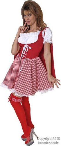 Adult Miss Little Red Costume (Size:Large 14-16) (Little Miss Riding Hood)