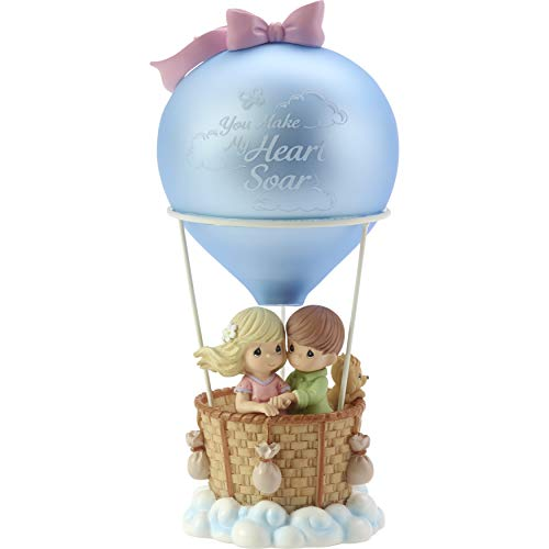 (Precious Moments You Make My Heart Soar Hot Air Balloon Musical Resin/Glass Figurine 182406)