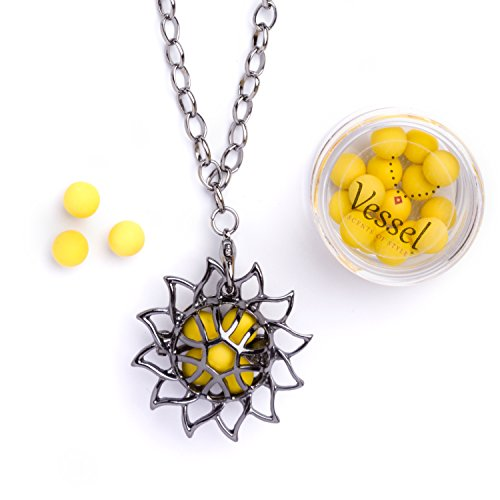 VESSEL Aromatherapy Essential Oil Diffuser Necklace - Chain, Locket Scented Jewelry (Sun Drops) by Vessel Scents of Style (Image #7)