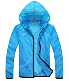 Panegy Men's Women's Long Sleeves Breathable Rainproof Sunproof Windproof Hooded Jacket Outwear Outfits T-Shirts for Camping Rock Cycling Climbing Walking Shooting Motorcycle