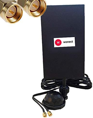 Antena Panel 4G con Ventosa 28dbi Interior Conectores SMA ...