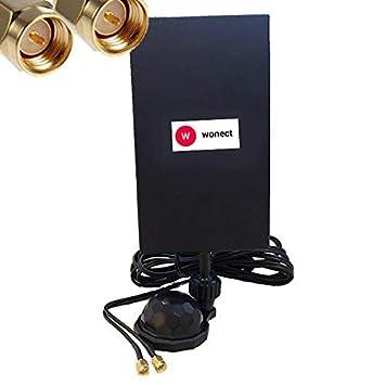 Antena Panel 4G con Ventosa 28dbi Interior Conectores SMA Macho Cable 3 Metros Longitud Baja perdida se/ñal Amplificador LTE Alto Rendimiento Amplificador de se/ñal para Modem y Router Huawei TP-Link