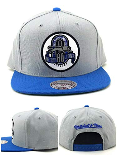 Mitchell & Ness Detroit Lions New Vintage 60th Anniversary Blue Gray Era Snapback Hat Cap