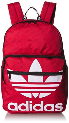 adidas Originals Originals Trefoil Pocket Backpack, Scarlet Monogram, One Size