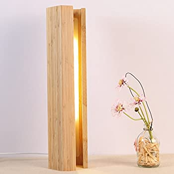 Trista99 Made Of Natural Bamboo Table Lamp LED Bedside Desk Lamp,  Minimalist And Adjustable Hotel